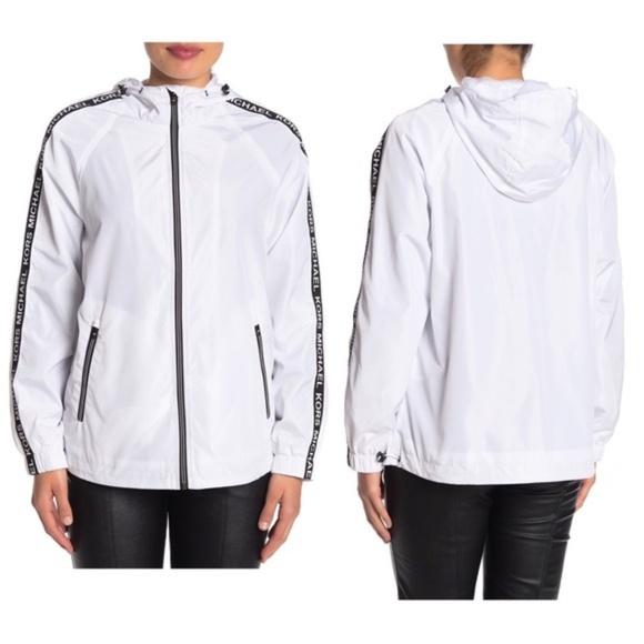 Michael Kors Jackets & Blazers - MICHAEL Michael Kors Sleeve Tape Logo Jacket NWT